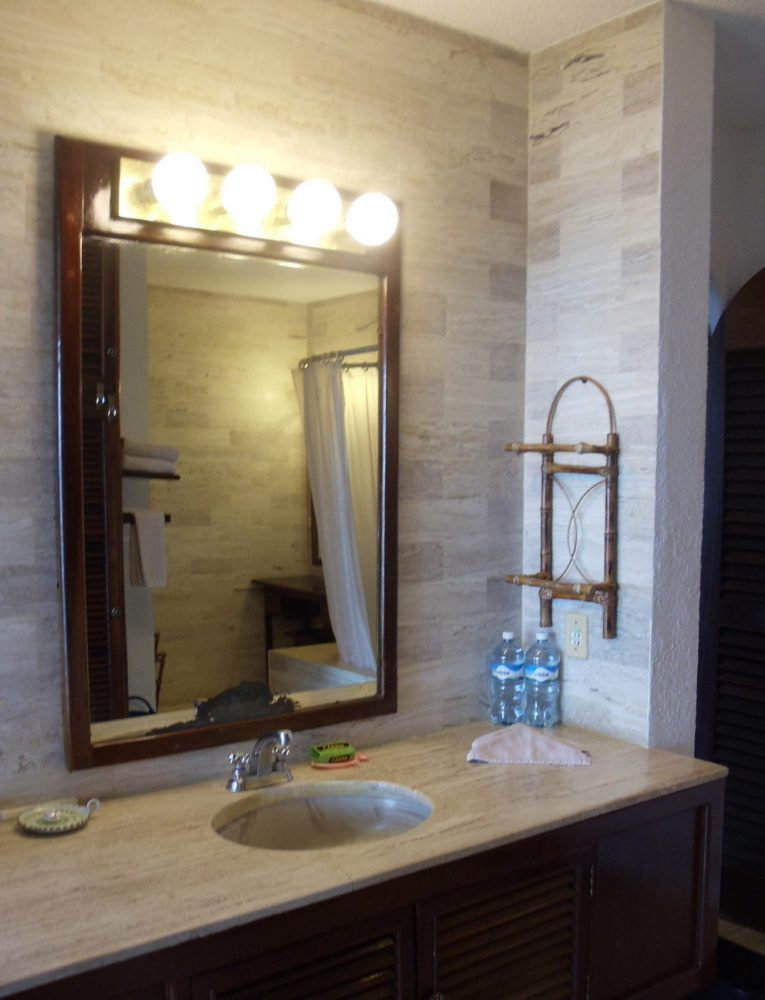 bathroom in this oceanfront condo