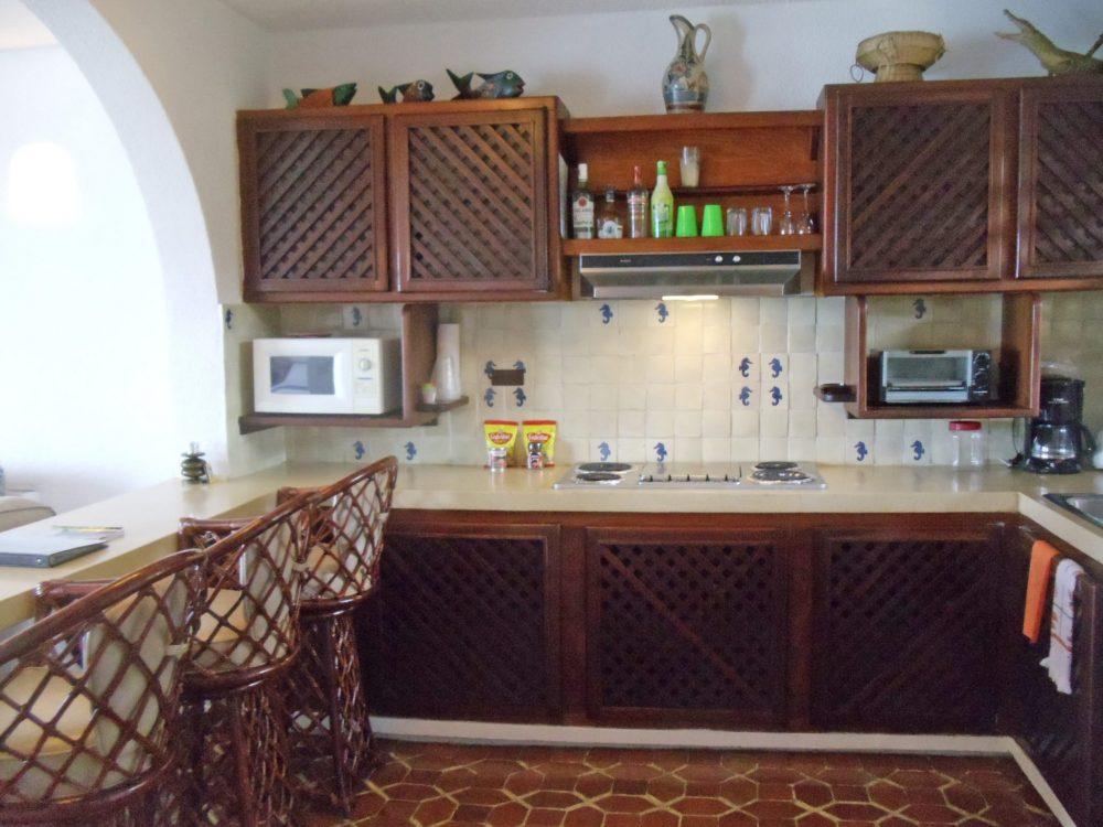 kitchen the oceanfront 1 bedroom condo