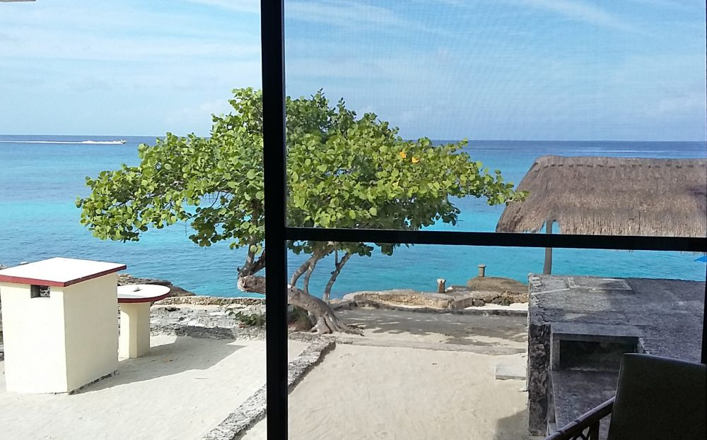 ocean view from Cozumel condo