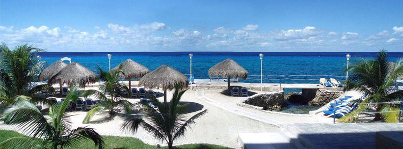 View from condo Sol y Luna in Cozumel